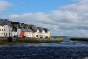 Houses along Galway Bay